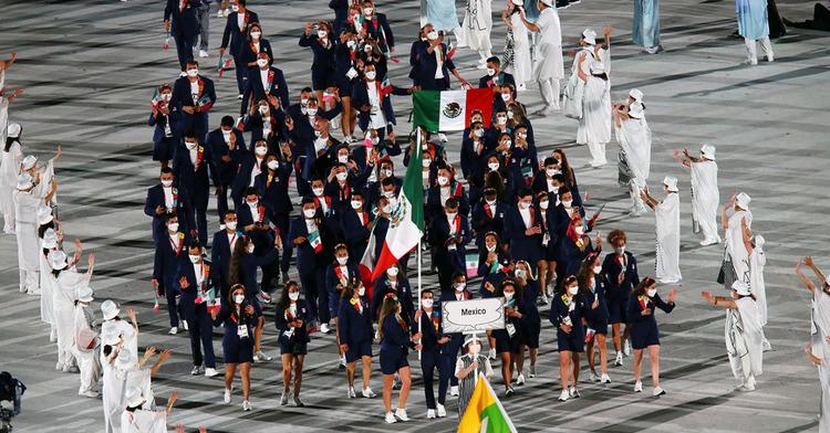 Delegación mexicana en la ceremonia de Inauguración de los XXXII Juegos Olímpicos, Tokio 2020, CONADE