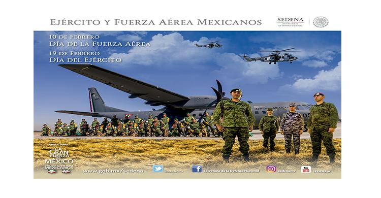 Militares del Ejército y Fuerza Aérea Mexicanos.