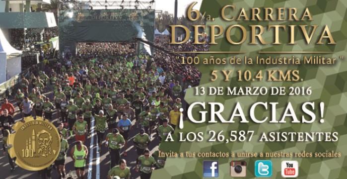 """6/a. Carrera Deportiva """"100 años de la Industria Militar""""."""