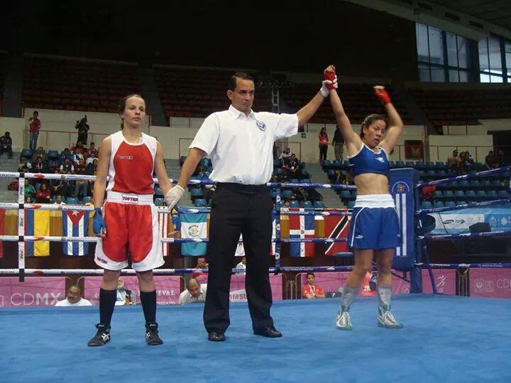 Victoria Torres, en semifinales del Clasificatorio Olímpico Continental de Boxeo