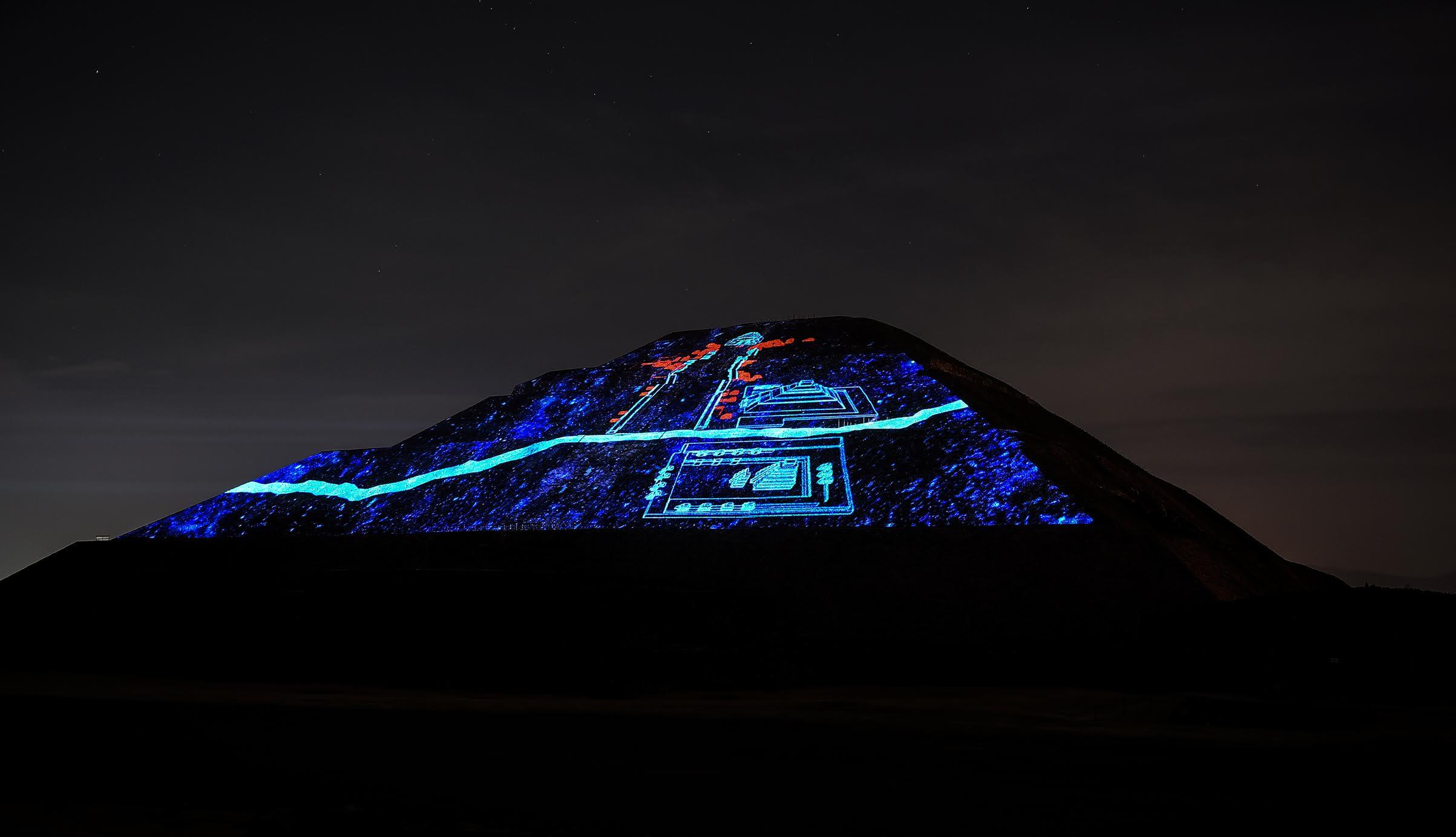 """EL espectáculo  """"Experiencia Nocturna en Teotihuacán"""" podrá ser disfrutado por los visitantes durante este periodo vacacional."""