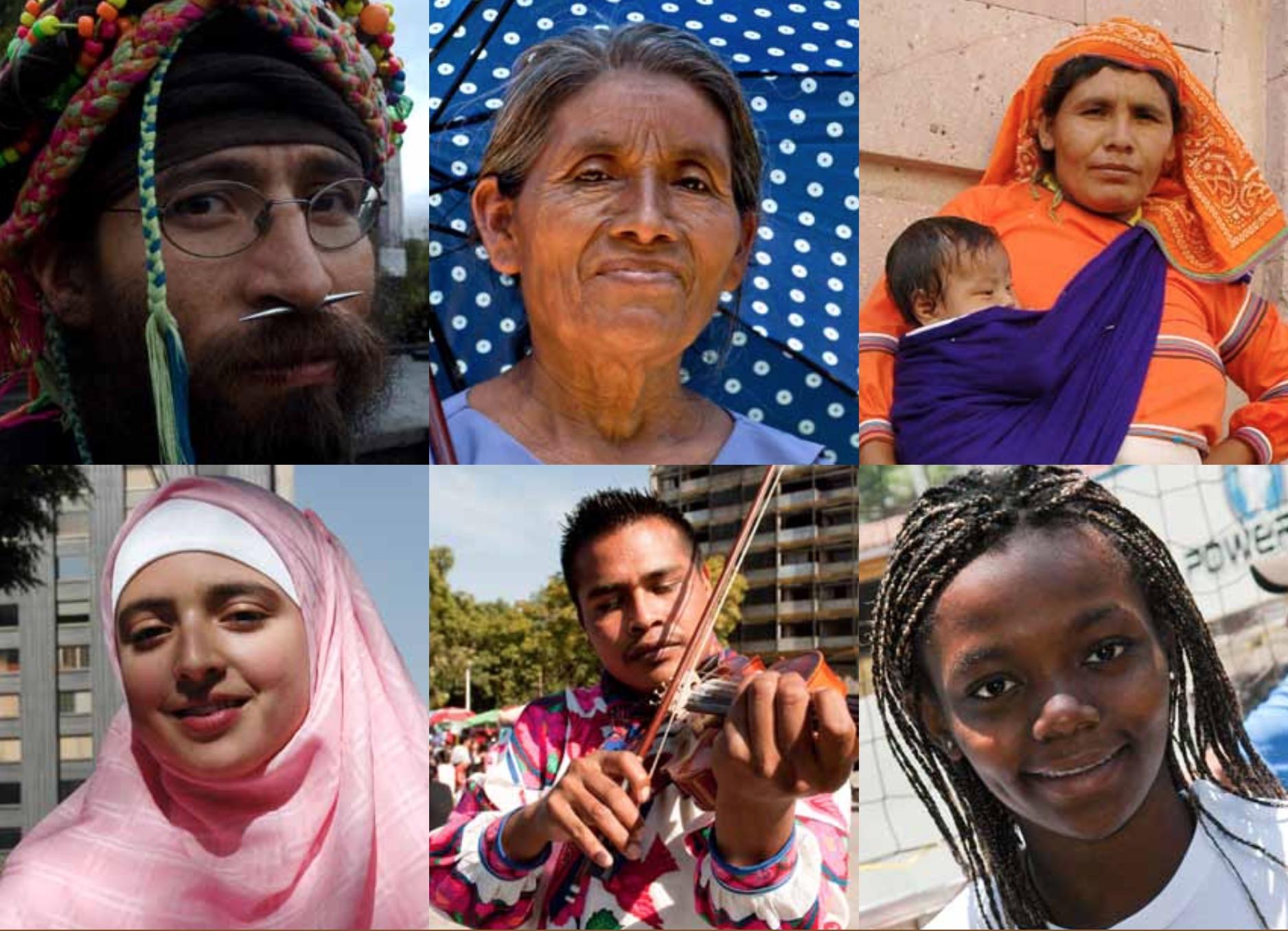 Collage con rostros de diferentes personas.