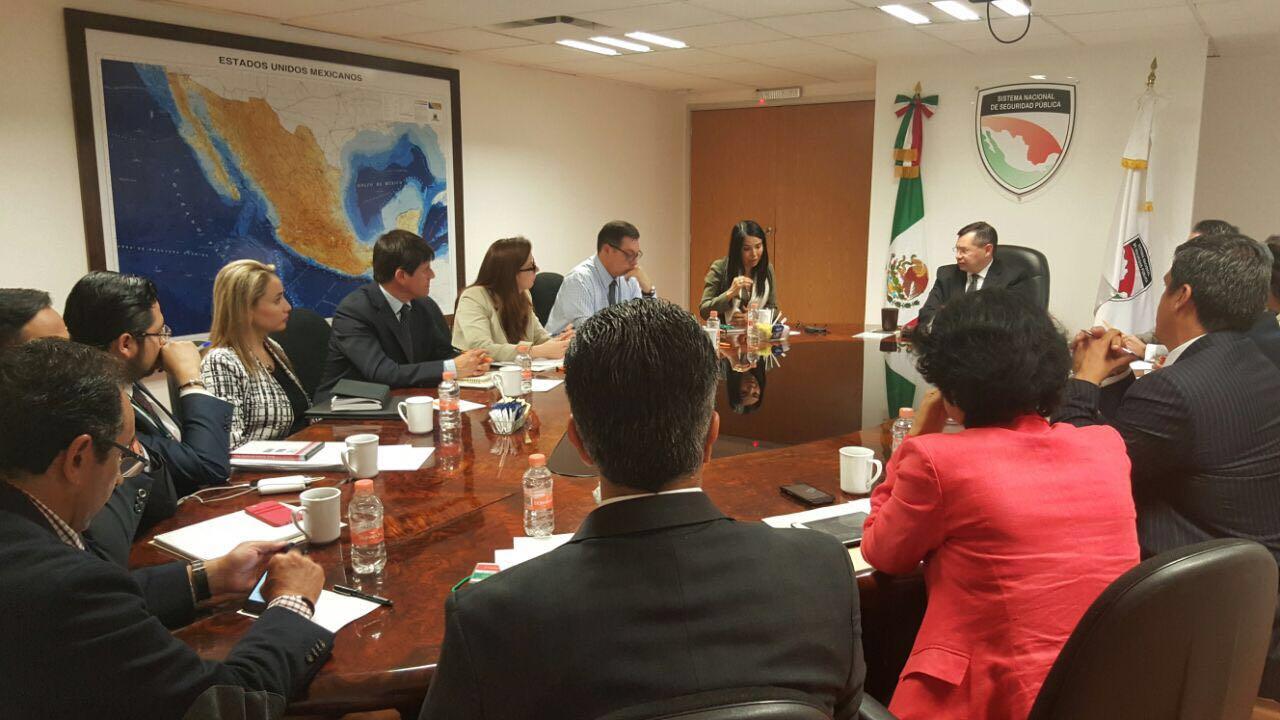 Reunión entre integrantes de SETEC y el Secretariado Ejecutivo del Sistema Nacional de Seguridad Pública