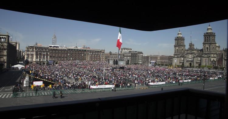 Fotografía del Zócalo de la Ciudad de México