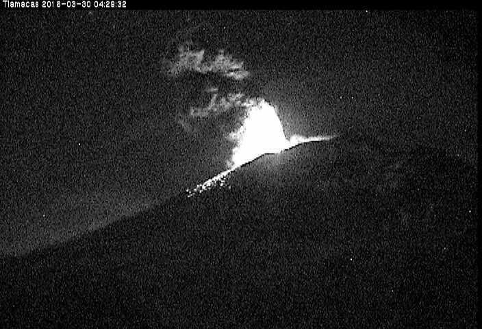 Imagen del Popocatépetl desde la estación Tlamacas.