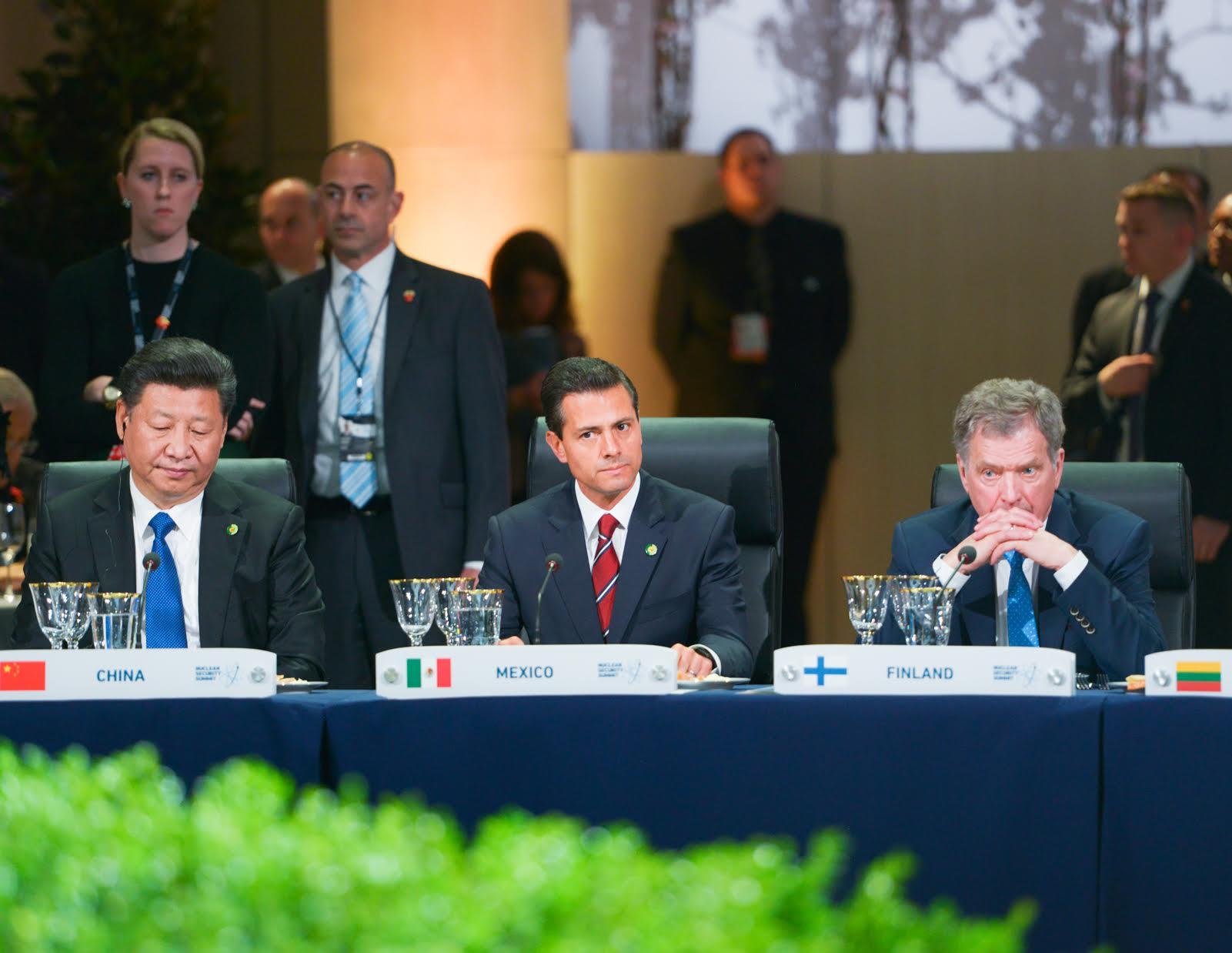 El Primer Mandatario en la Sesión Plenaria de la Cuarta Cumbre de Seguridad Nuclear.