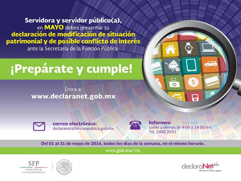 Entra a www.declaranet.gob.mx para realizar tu declaración
