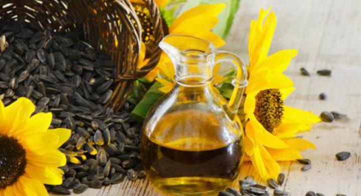 Flor de girasol, semilla de girasol y aceite de girasol.