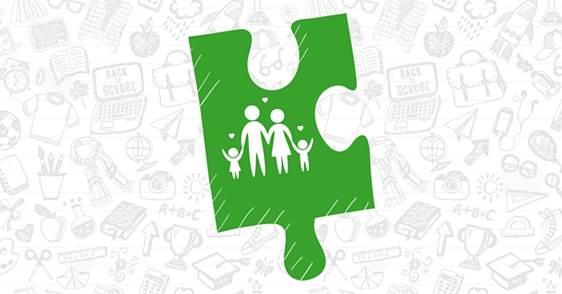 Imagen gráfica que representa una familia