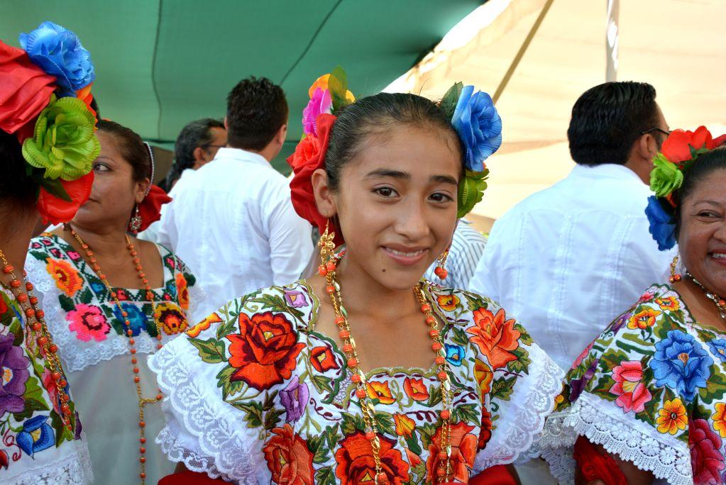 Fotografía de una niña mexicana