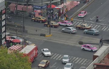 Vista aérea de la Ciudad de México en un día de contingencia ambiental