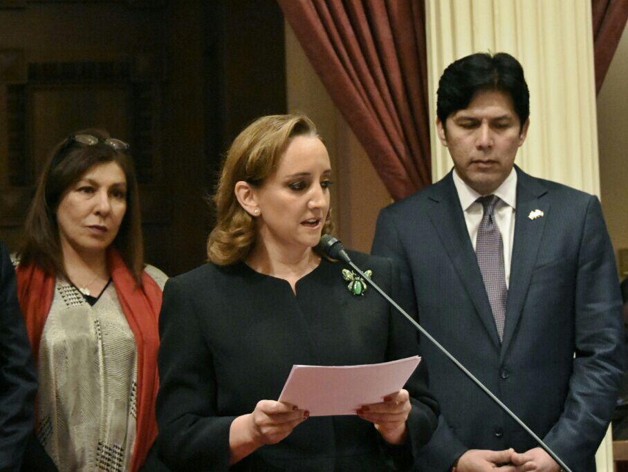 Mensaje de la Canciller ante el Pleno del Senado de California.