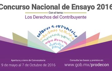 Participa en el Concurso Nacional de Ensayo 2016