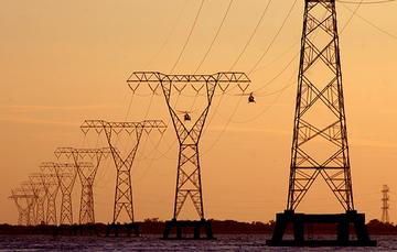 Línea de torres de electricidad