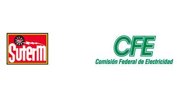Logotipos SUTERM y CFE