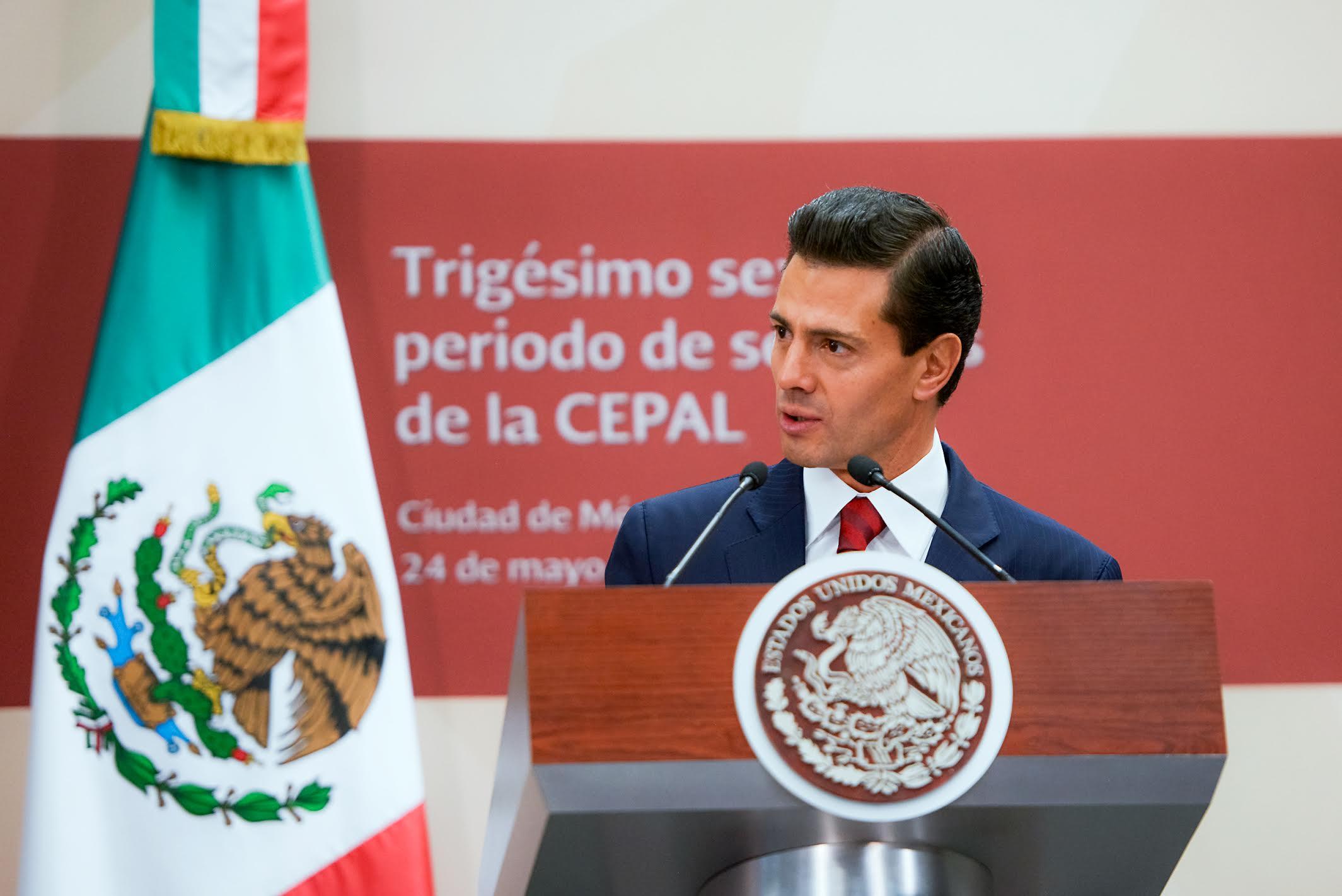 """""""Los trabajos de la CEPAL son indispensables para construir una región unida por el bienestar, el desarrollo incluyente y la prosperidad"""": EPN"""