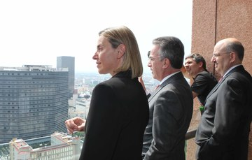 The EU High Representative of the Union for Foreign Affairs and Security is in Mexico on an official visit