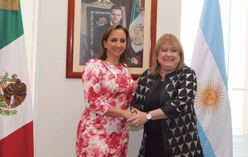 The Foreign Secretary with the Foreign MInister of Argentina, Susana Malcorra
