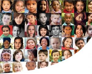 Rostros de niñas y niños