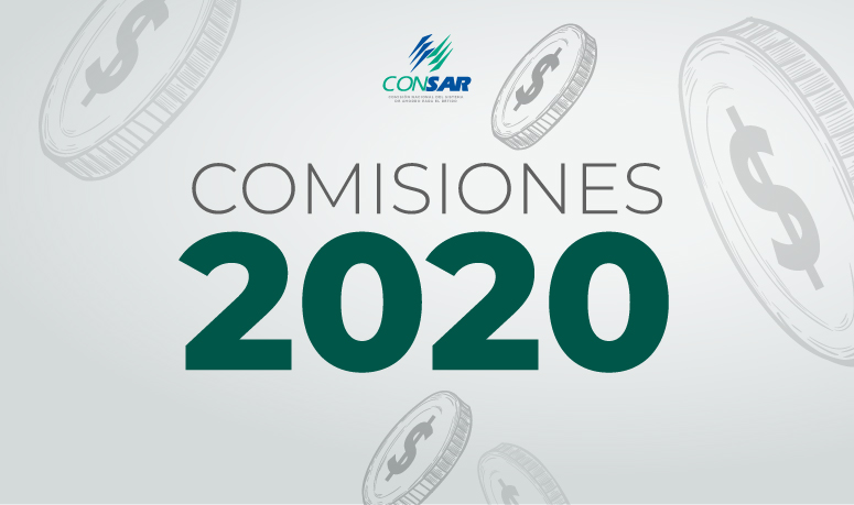 Comisiones vigentes en 2020