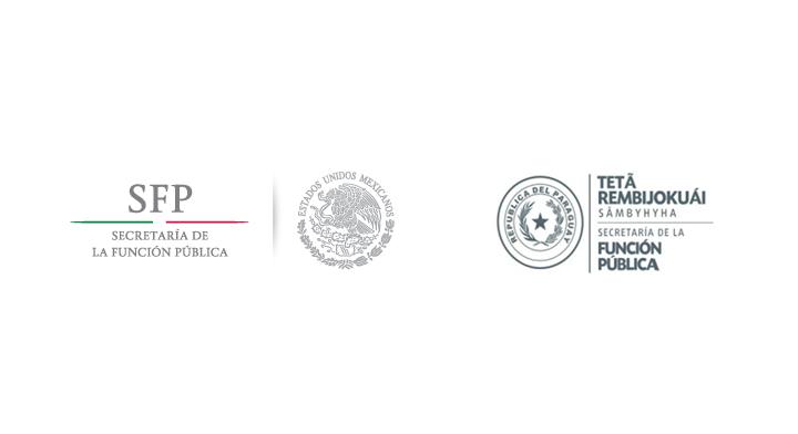 Logo de la Secretaría de la Función Pública de México y logo de la Secretaría de la Función Pública de Paraguay
