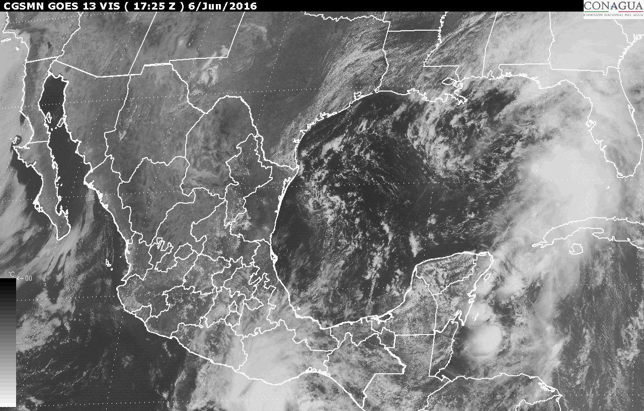 Imagen de satélite del territorio mexicano