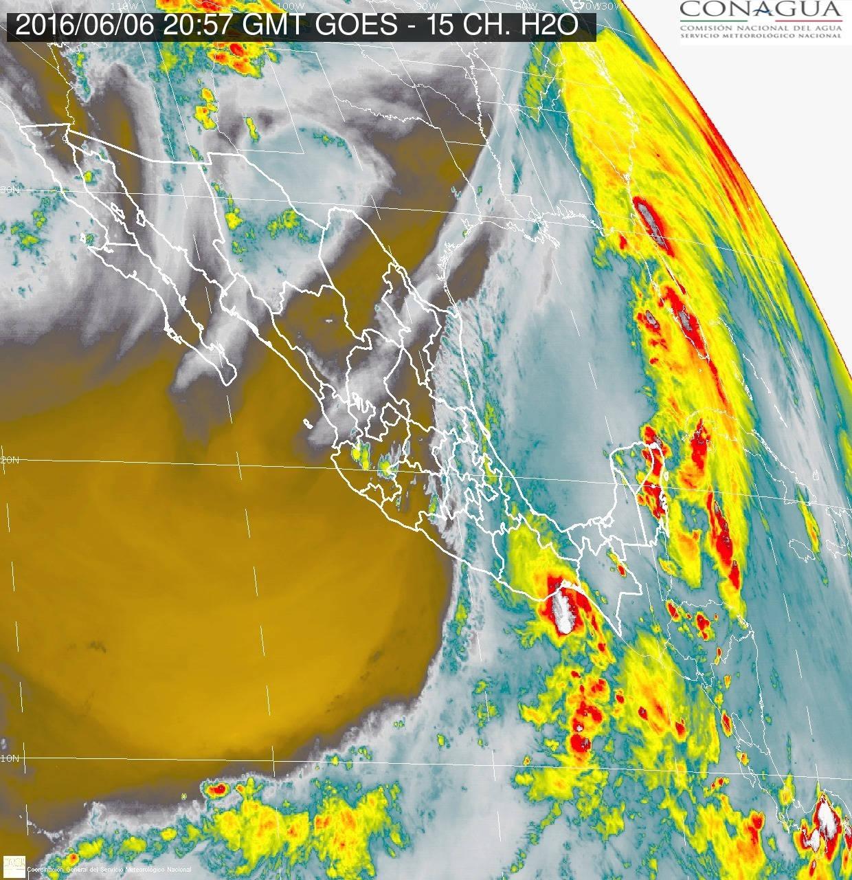Imagen de satélite de la Depresión Tropical 1-E