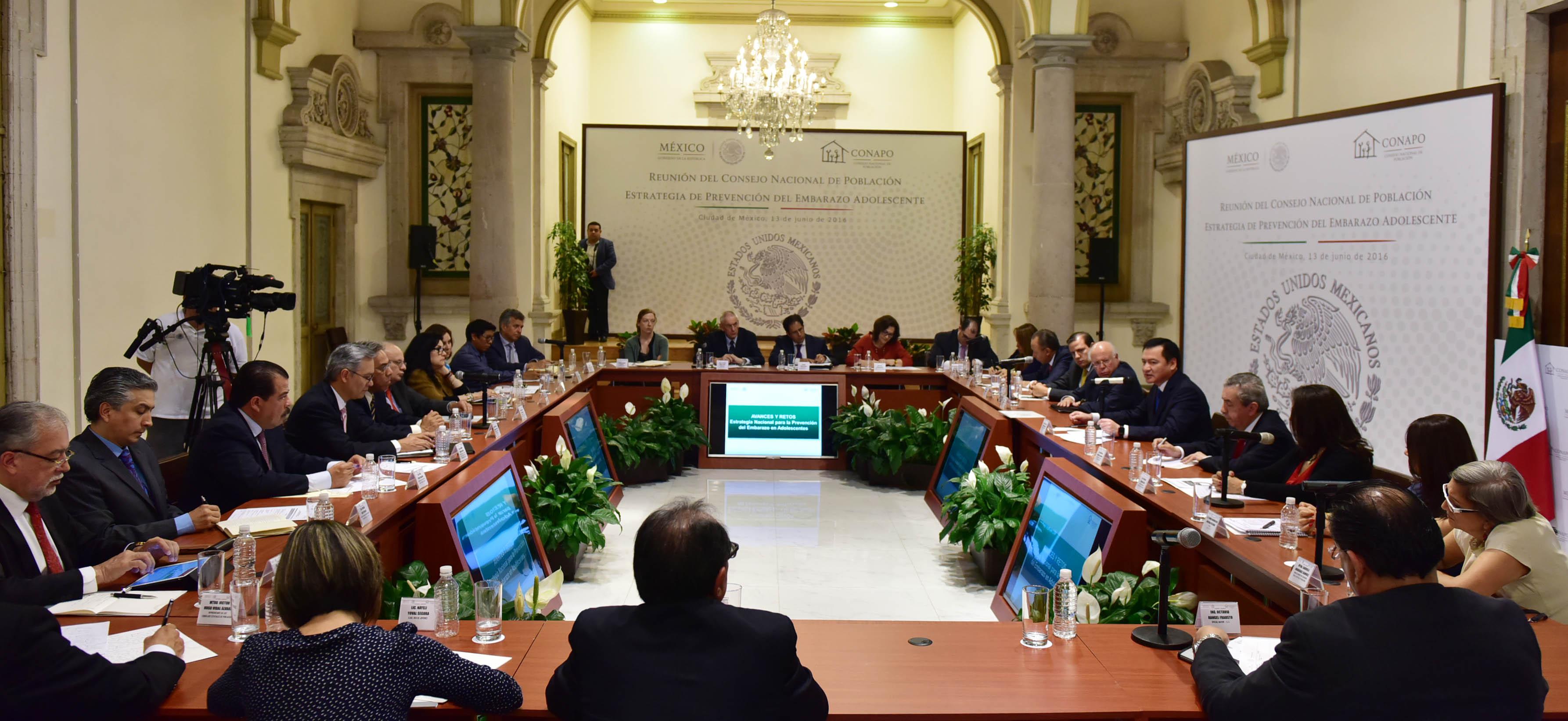 Reunión del Consejo Nacional de Población Estrategia de Prevención del Embarazo Adolescente