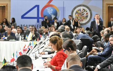 Plenary session of the 46th regular session of the OAS in the Dominican Republic