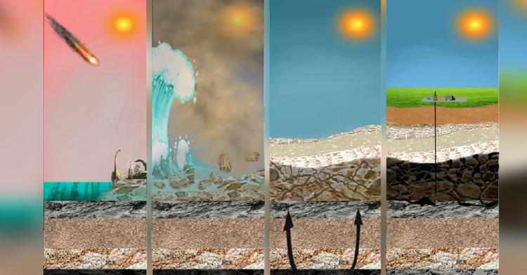 Cambios en formación geológica a partir de la caída del meteorito.