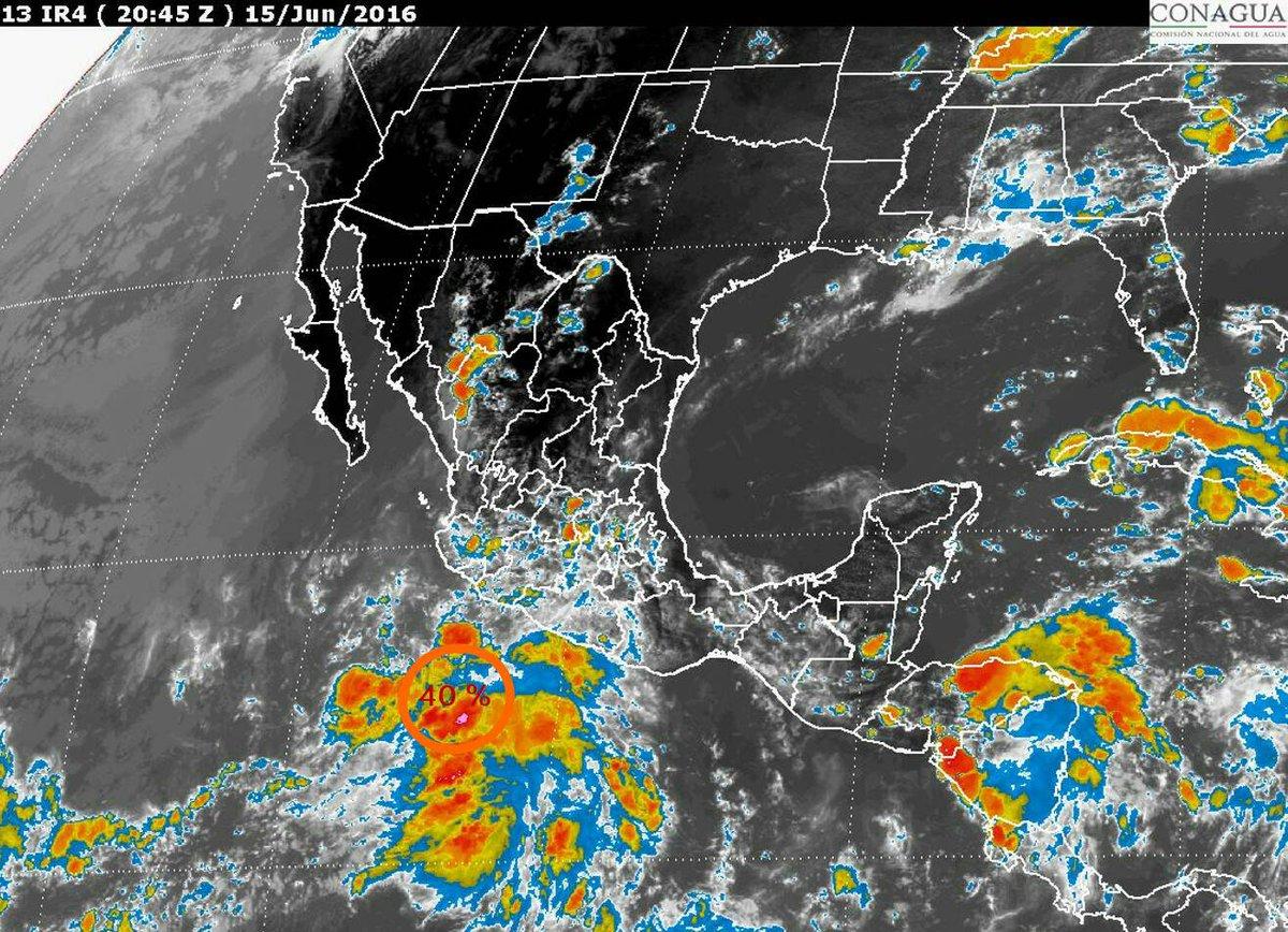 Imagen de satélite del territorio mexicano.
