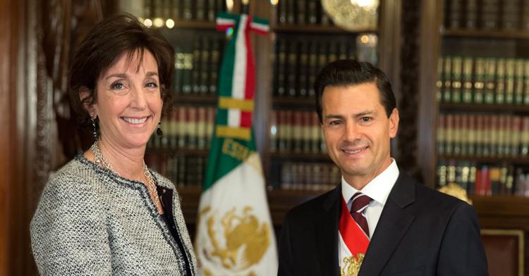 El Primer Mandatario recibió las Cartas Credenciales de la nueva embajadora de los Estados Unidos de América en México, Roberta Jacobson.