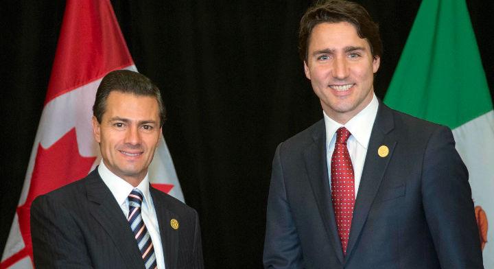 Presidente Enrique Peña Nieto y el Primer Ministro de Canadá Justin Trudeau