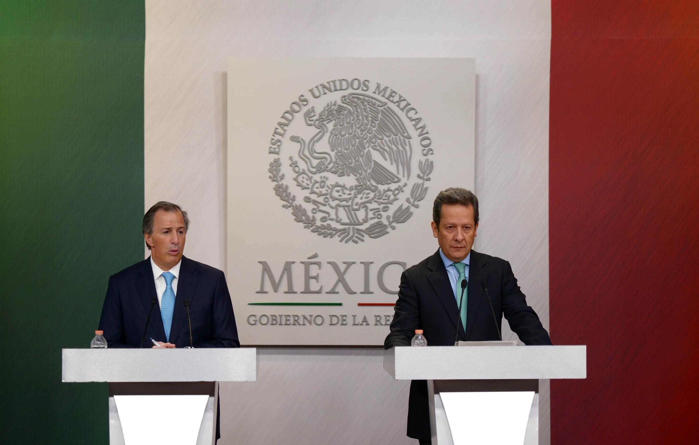José Antonio Meade Kuribreña (Sedesol) y Eduardo Sánchez (Vocero del Gobierno de la República), detallaron las acciones y objetivos que conforman la Estrategia Nacional de Inclusión que lleva a cabo el Gobierno de la República.