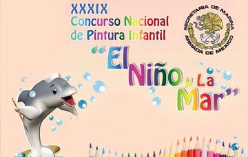 """PINTURAS GANADORAS DEL 1RO., 2DO., Y 3ER. LUGAR DEL XXXIX CONCURSO NACIONAL DE PINTURA INFANTIL """"EL NIÑO Y LA MAR"""" 2016 EN LOS ESTADOS DE LA REPÚBLICA Y LA CIUDAD DE MÉXICO."""