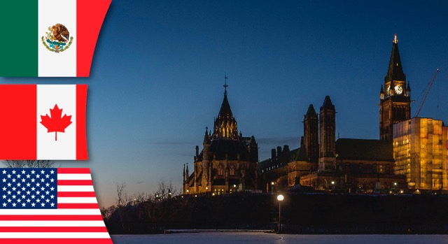Paisaje de la ciudad de Ottawa, Canadá.
