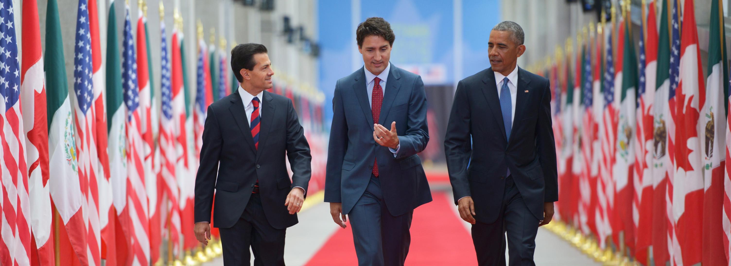 La última Cumbre de Líderes de América del Norte se celebró en Toluca, México, el 19 de febrero de 2014.