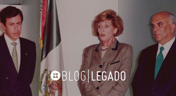 Los artífices IMEXCI: Canciller Rosario Green y los Embajadores Jorge Alberto Lozoya y Enrique Berruga (enero, 2000).