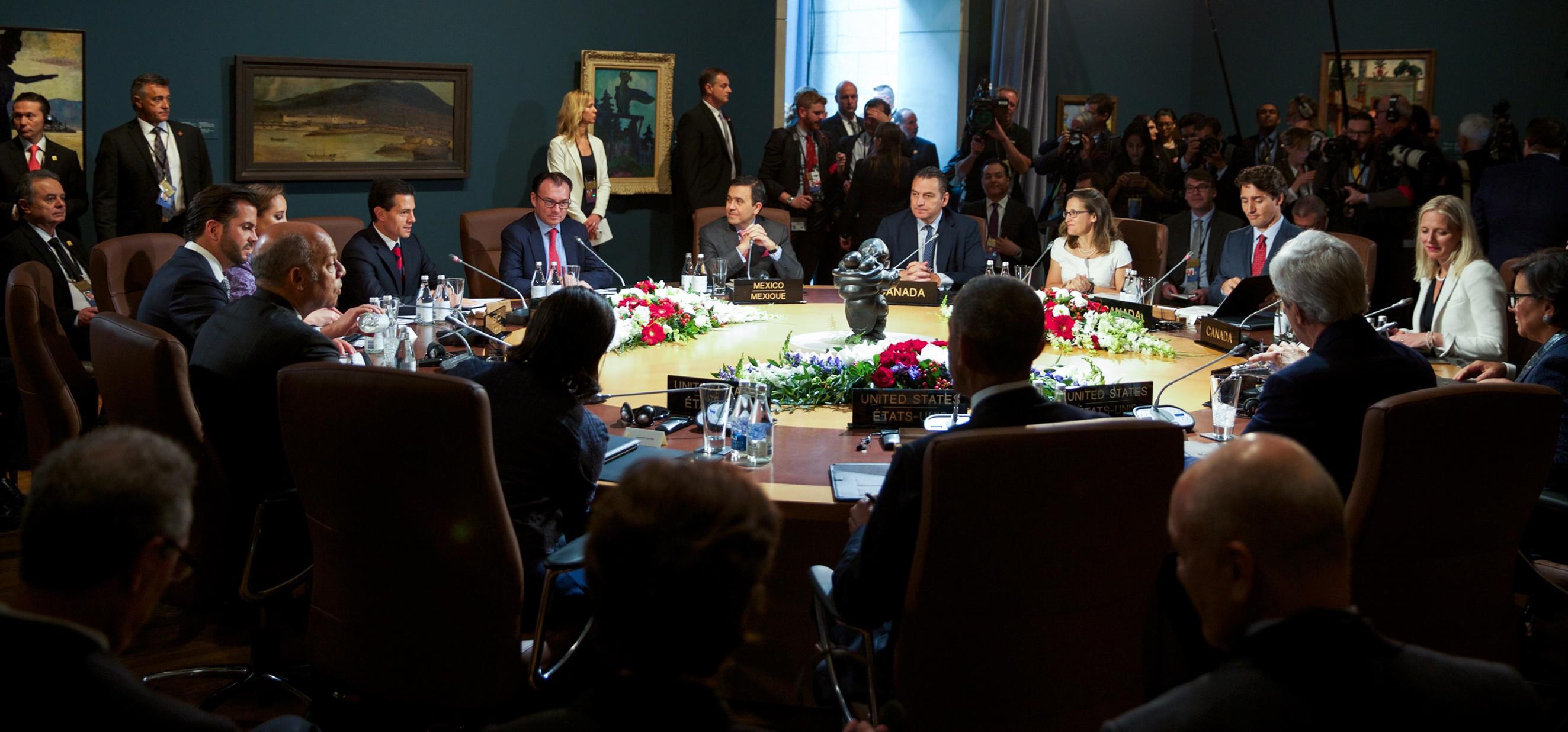 Los tres gobiernos se comprometieron a una ambiciosa y duradera Asociación de América del Norte sobre el Clima, Energía Limpia y Ambiente.
