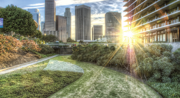 Paisaje de Los Ángeles, California.