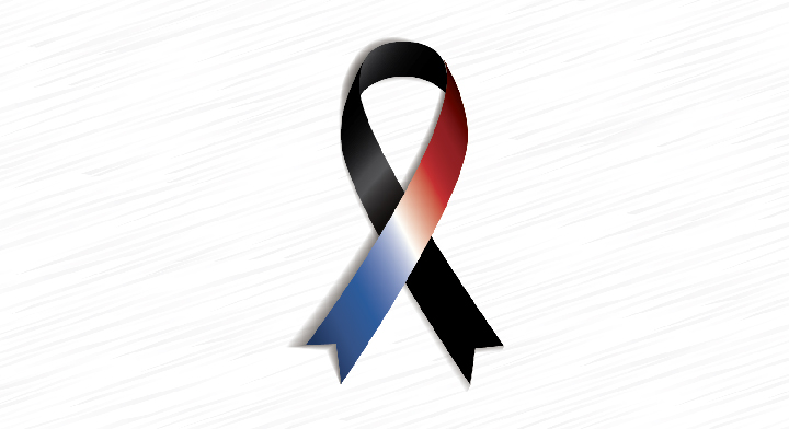 Moño de luto por tragedia en Niza, Francia.
