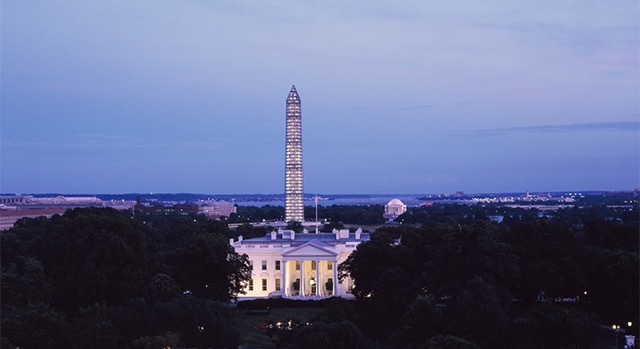 Paisaje con la Casa Blanca en Washington, DC