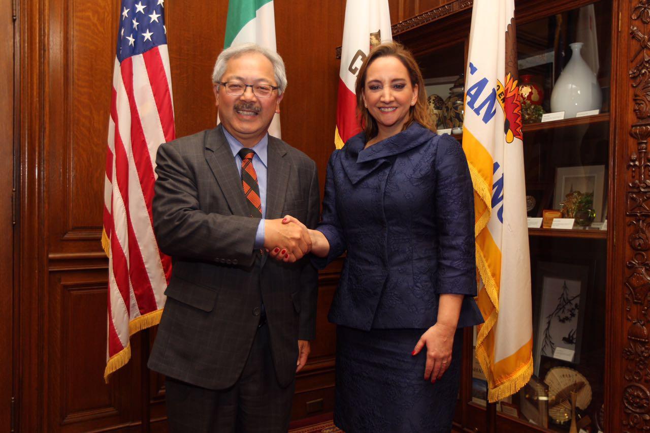 La Canciller Ruiz Massieu y el Alcalde de San Francisco, Ed Lee.