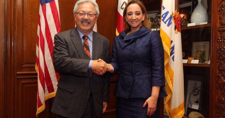 Foreign Secretary Ruiz Massieu with Mayor Ed Lee in San Francisco