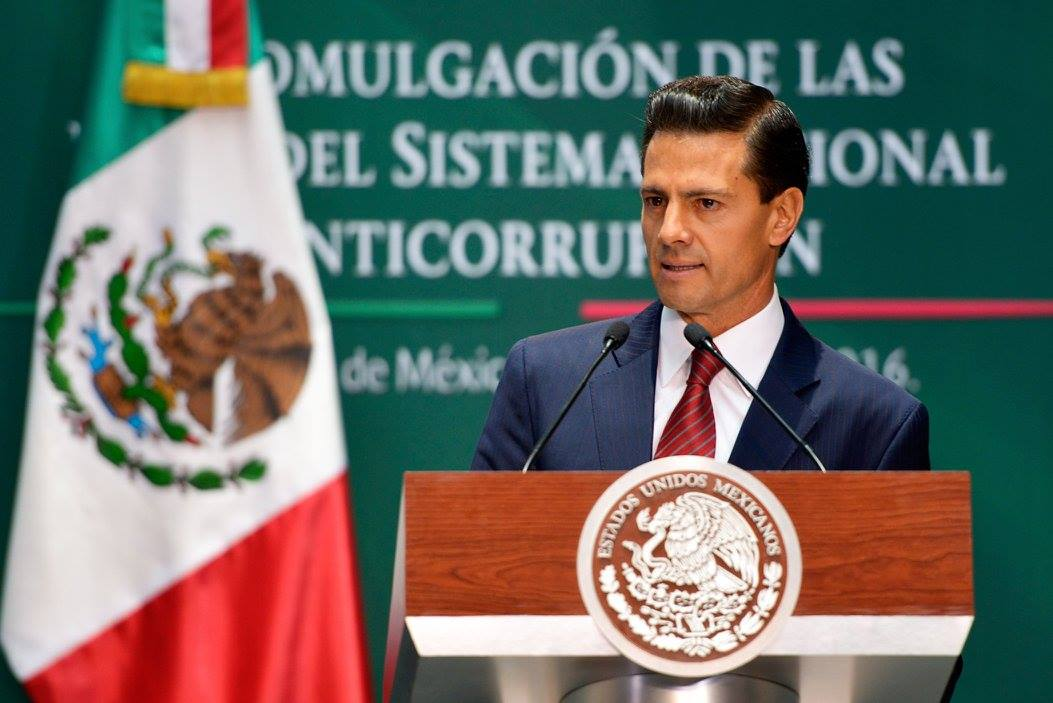 """""""Estoy convencido de que juntos, colaborando y coordinándonos, podremos hacer de México un país libre de corrupción""""."""