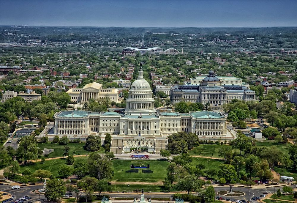 Vista del Capitolio en Washington, DC.