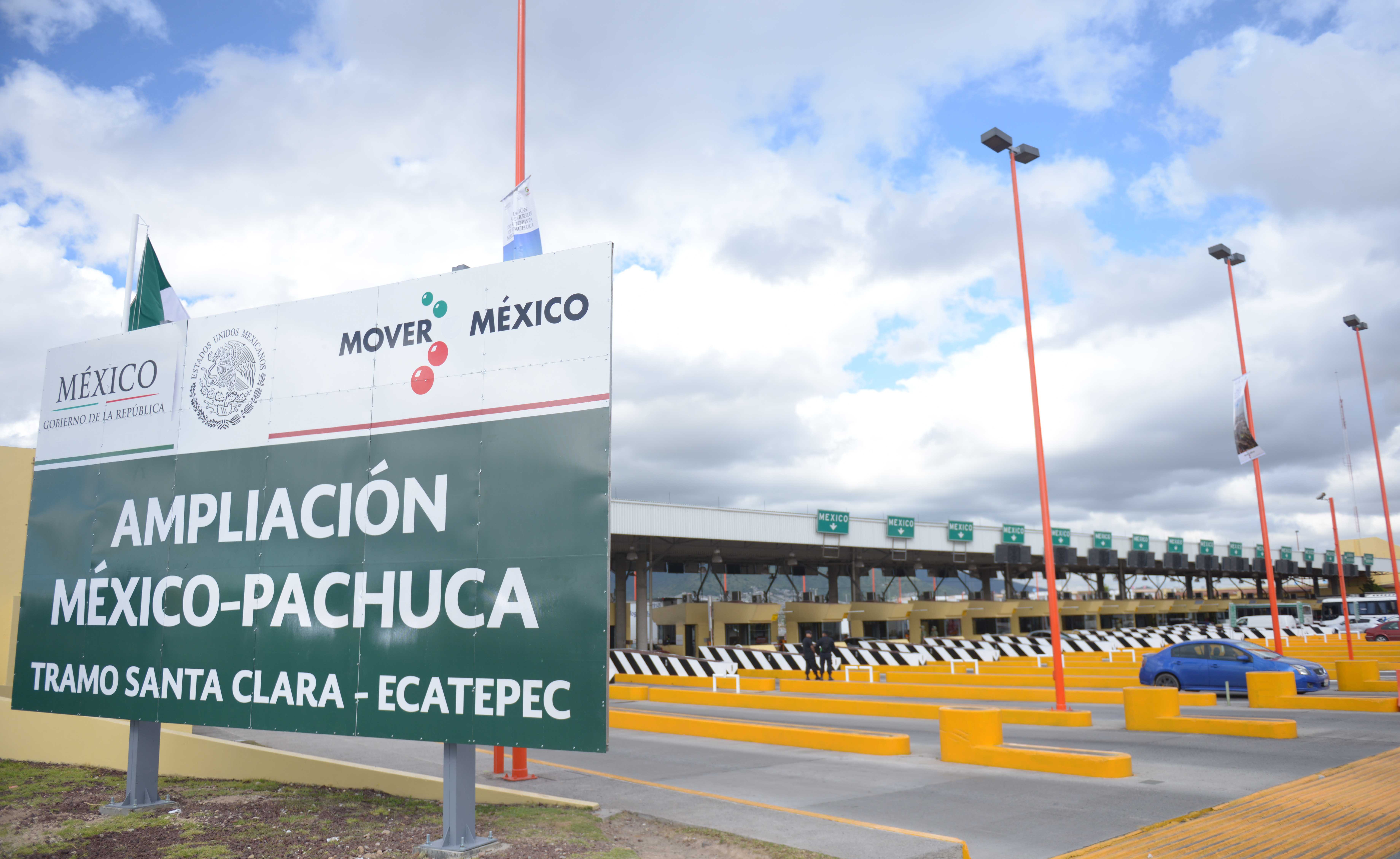 Entrega de la ampliación de la autopista México-Pachuca.