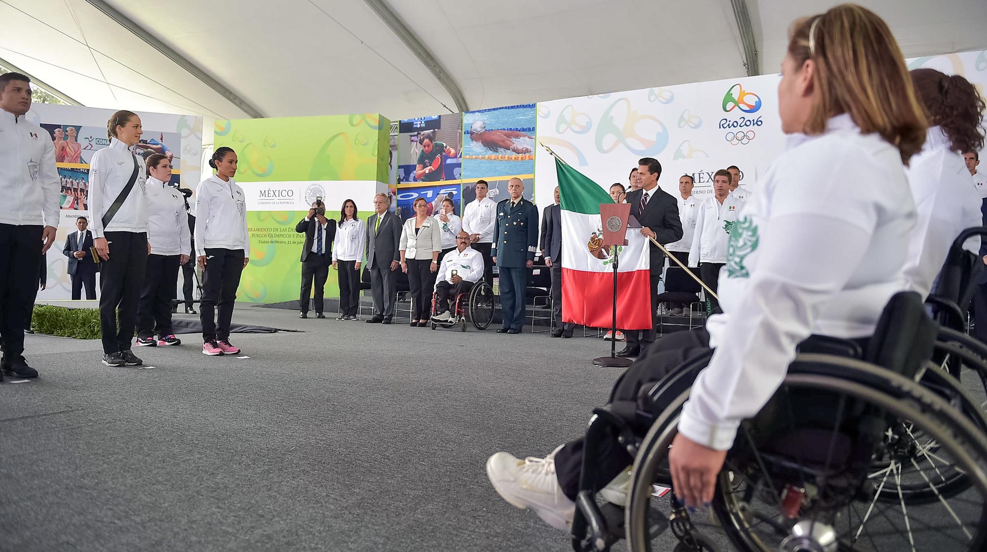 Abanderamiento de las Delegaciones Mexicanas Juegos Olímpicos y Paralímpicos.
