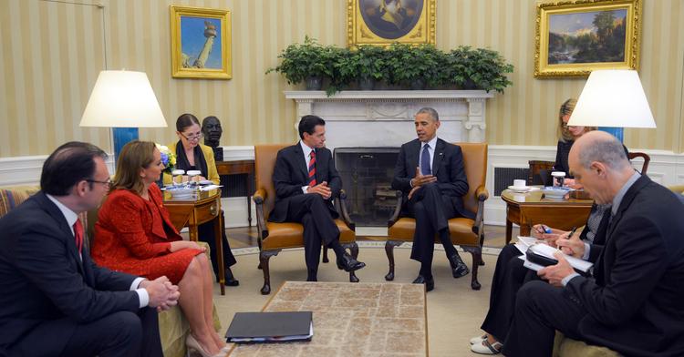 El Presidente Peña Nieto y el Presidente Barack Obama reunidos en la Casa Blanca.