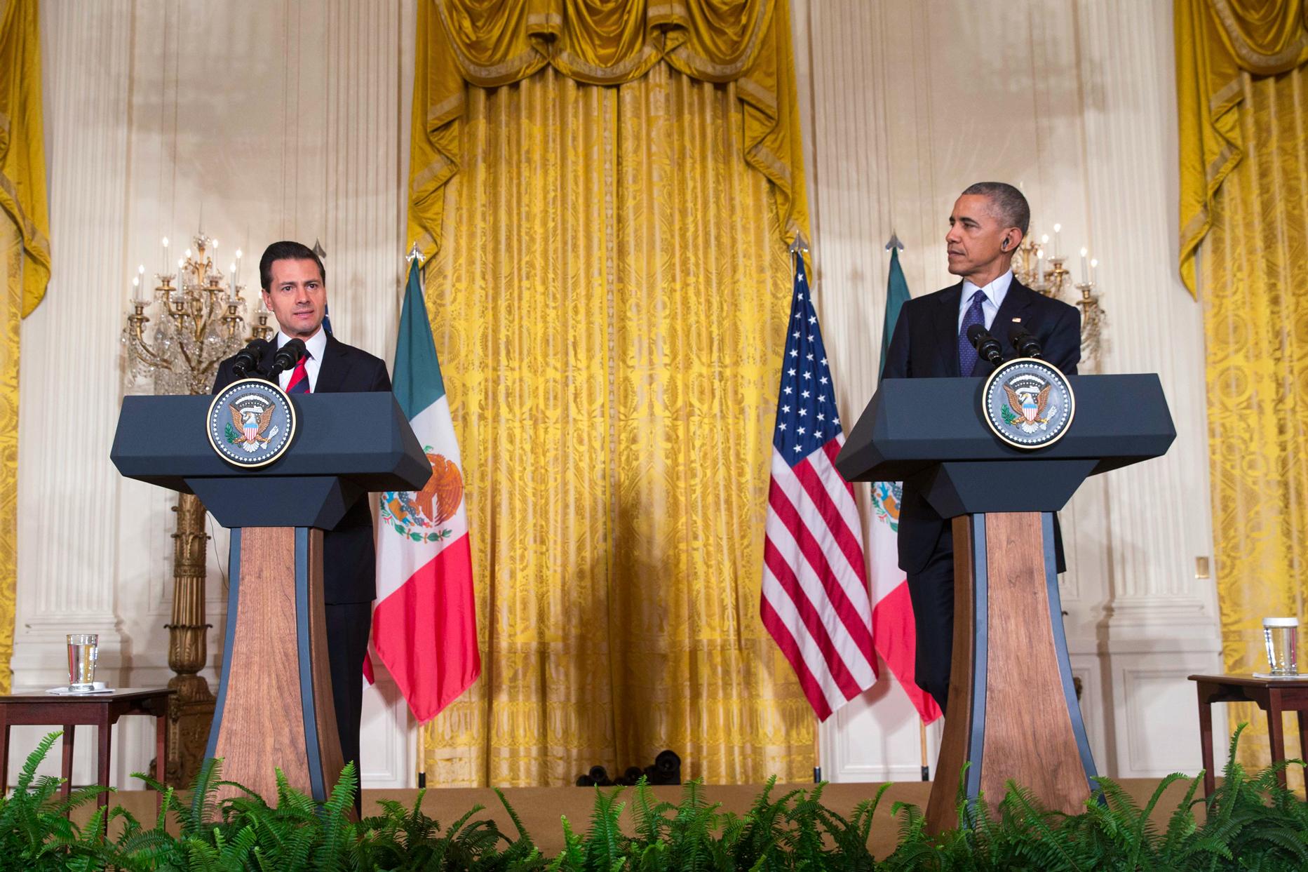 """""""Para el pueblo y el Gobierno de México, la buena relación con los Estados Unidos de América es esencial"""", EPN."""